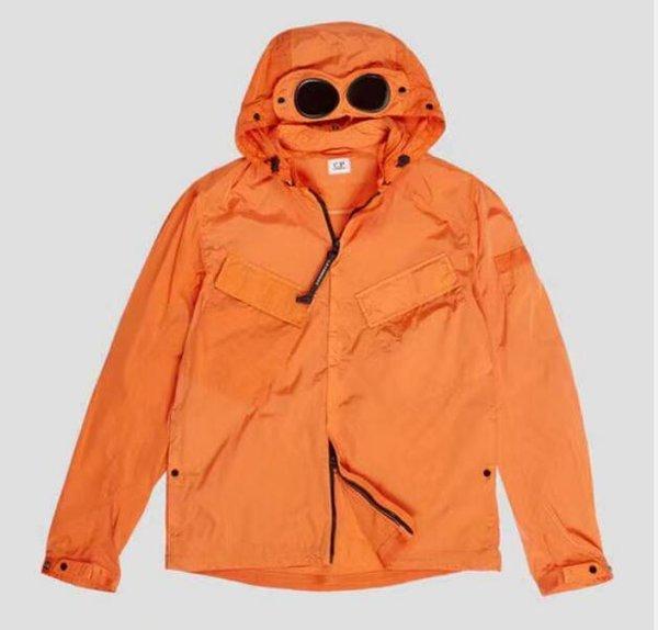 best selling Metal nylon two glasses GOGGLE men jacket casual CP hoodies outdoor windbreak black army green orange gifts