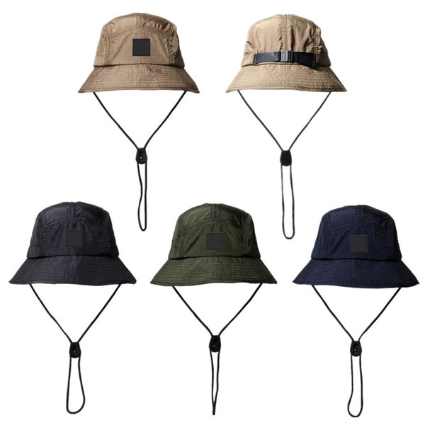 best selling New Fashion Bucket Hat Foldable Fisherman Hat Unisex Designer Outdoor Sunhat Hiking Climbing Hunting Beach Fishing Hats Men Draw String Cap
