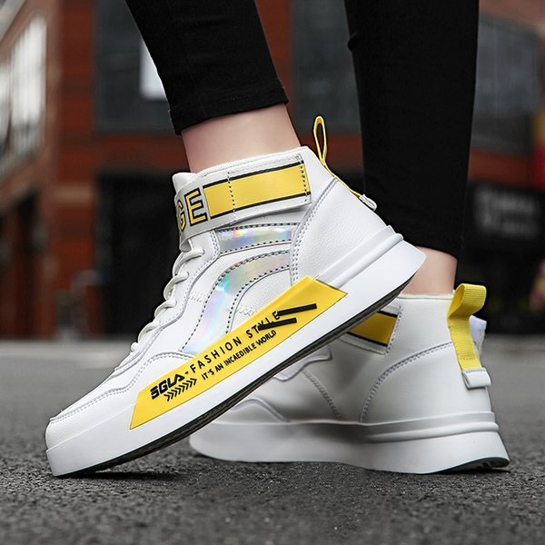 2021 new high-quality fashion casual shoes color matching couple high-top shoes breathable shock absorption couple shoes 35-44-5