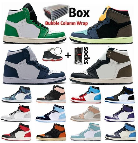 best selling With Box Jumpman 1 1s Basketball Shoes High Dark Mocha Mens Women Mid Cactus Jack TWIST Pink Obsidian Bio Hack Chicago Top Sneakers Trainers
