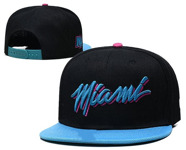 best selling New Snapback Hats Cap Miami Team Hats Black White Color Mix Match Order All Caps Top Quality Hat