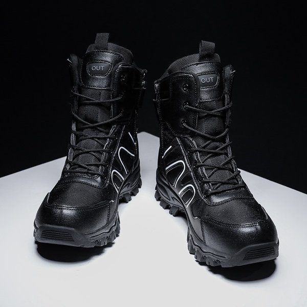 Men Military Boots Autumn Outdoor Male Hiking Boots Special Force Desert Ankle Boots Tactical Combat Ankle Men Work
