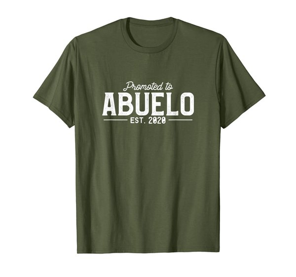 Mens Promoted To Abuelo 2020 Proud New Grandfather Gift T-Shirt
