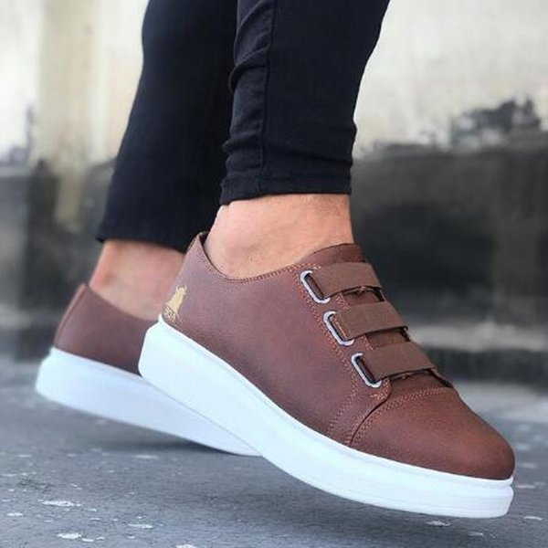 BOA men'scasual, comfortable, flexible and fashionable leather wedding walking shoes comfortable, light and breathable