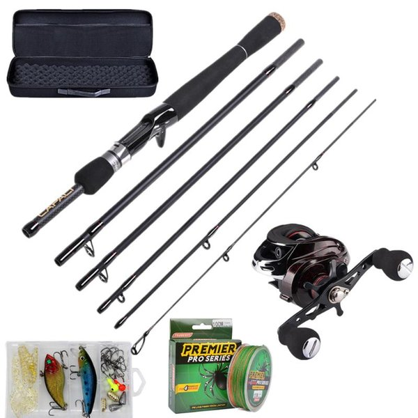 top popular Rod Reel Combo 2021 Fishing Combos 2.1m 2.4m 2.7m Casting Pole With Reels 6 7 Sections EVA Carrier Bag For Travel Saltwater 2021