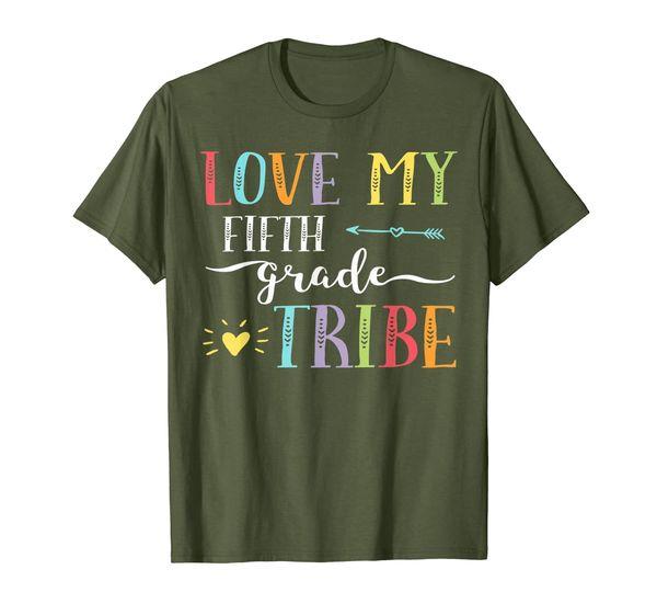 Fun 5th Grade Teacher Shirt Love My Tribe First Day School T-Shirt