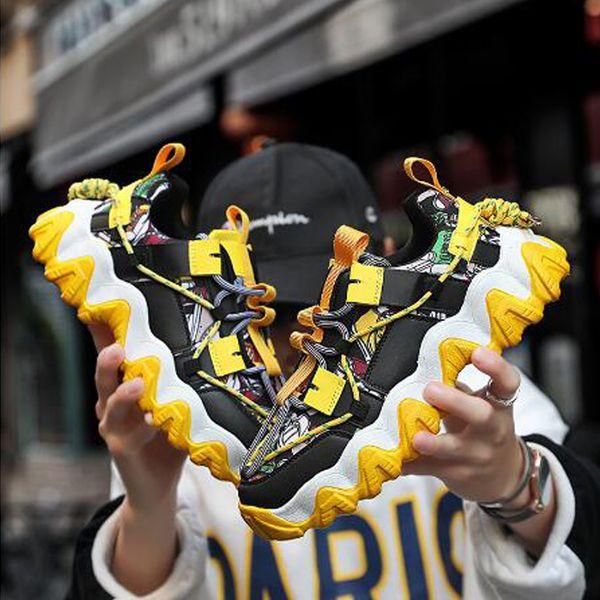 lace-up mesh men's breathable comfortable flat sneakers men non-slip shoes