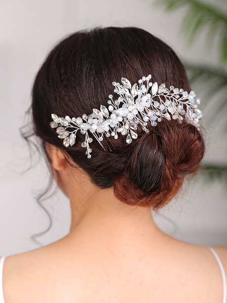 Hair accessories wedding Hair comb Silver Headband Trendy Headwear Handmade Hair Ornaments Bridal Rhinestone Headpiece for women
