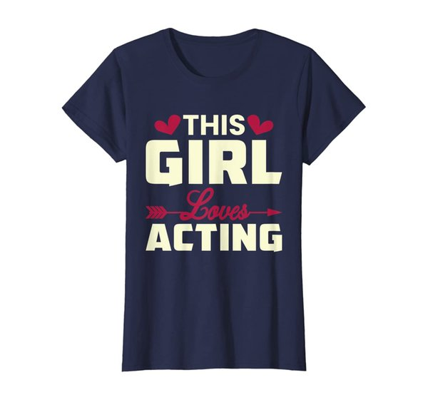 This Girl Loves Acting Theater Show Actress T Shirt Design
