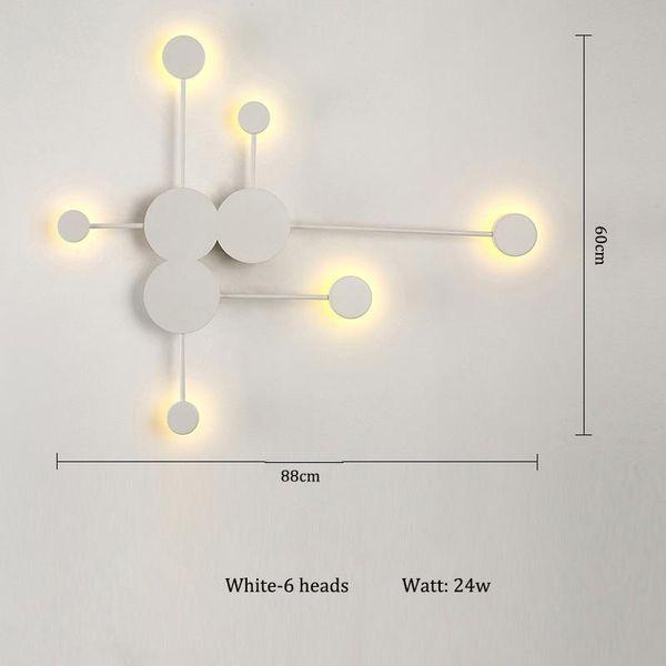 Blanc-6 têtes Blanc chaud (2700-3500K)