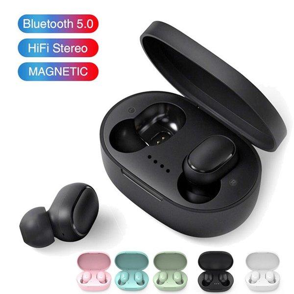 top popular A6S TWS Headphones Earphones Bluetooth 5.0 Wireless Earbuds Life Waterproof Blue tooth Headset Earphone With Mic For All Goophone 2021