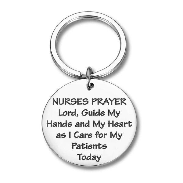 10Pieces/Lot Nurse Graduation Keychains Gifts for Women Men Nurses Prayer Key Chain Nursing Gifts for Nursing Students RN Nurse Practitione