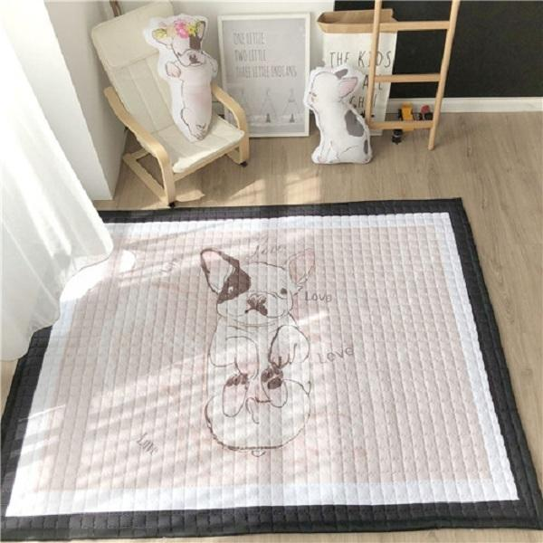 best selling European style Home Carpet 100% cotton Cartoon floor rugs antiskip living room carpet 150*200cm soft kids play mat dog boy tiger