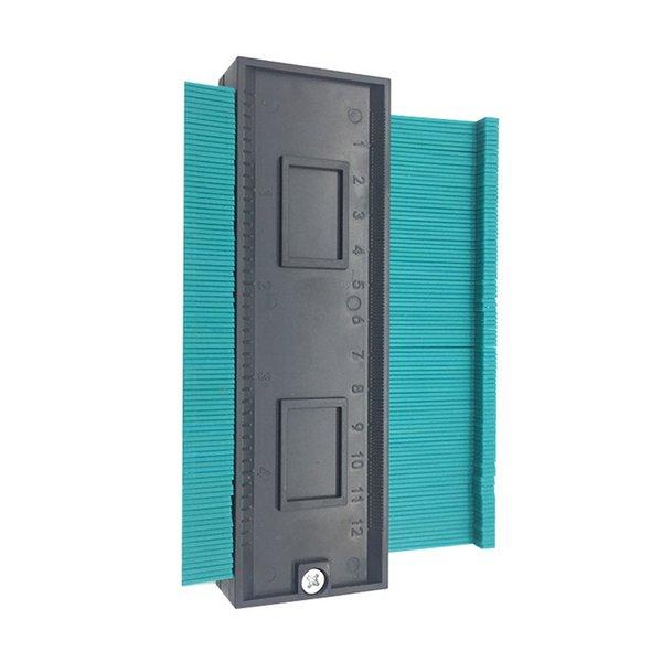 best selling 5inch Contour Profile Gauge Tiling Laminate Tiles Edge Shaping Wood Measure Ruler ABS Contour Gauge Duplicator support Wholesale 355 V2