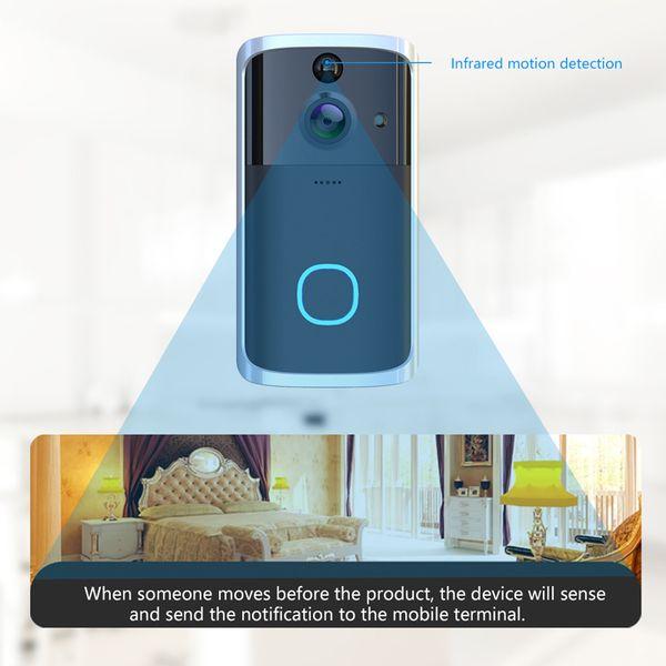 best selling H7 WIFI Smart Doorbell Video Intercom Security Camera Door Bell Remote Monitoring Alarm