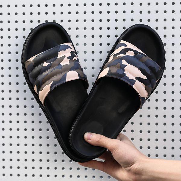 Men Slippers Camouflage Summer Flat Summer Men Shoes Breathable Beach Slippers Wedge Flip Flops Men Slides Slippers