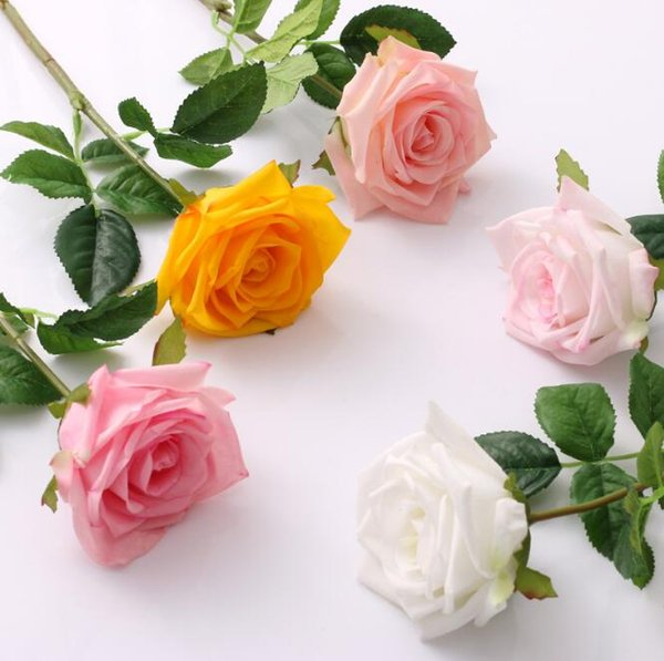 best selling Multicolor Moisturizing Rose Flower Single Stem Good Quality Artificial Flowers For Wedding Decorations