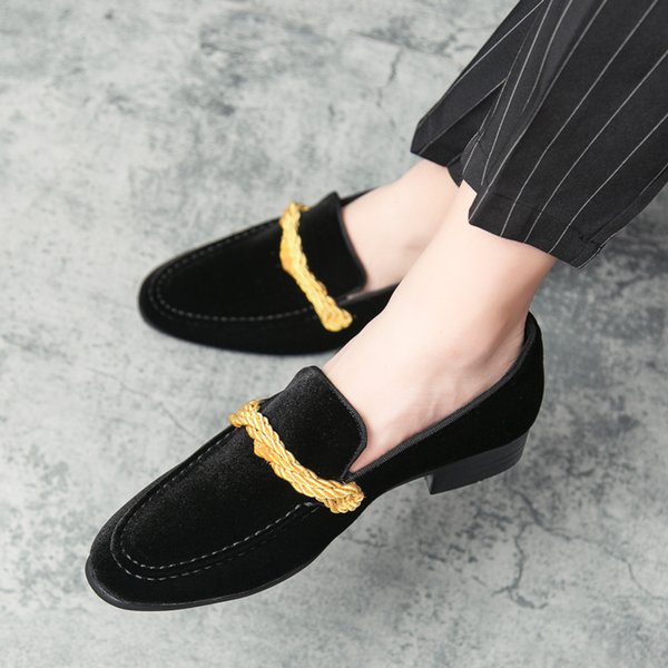 New Men Dress Shoes Men Wedding Fashion Office Footwear High Quality Fashion Velvet Comfy Men Formal Shoes Brand flats Shoes