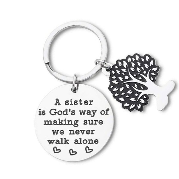10Pieces/Lot Best Friend Keychain Gifts for Sister Friend Girls Sister Stepsister A Sister Is Gods Way of Making Sure We Never Walk Alone