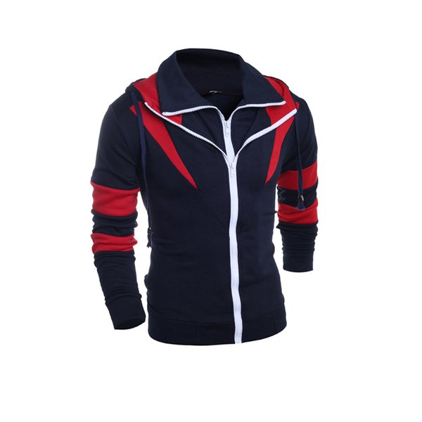 Mens Long Sleeves Hoodies Patchwork Sweatshirt With Zipper Slim Fit Hooded Sweatshirts Male Winter Warm Coat Man Quality Clothing Big Sale Welcome to my store ,if u need any help ,feel free contact us ,we will offer u best service ,best quality and fast shipping.