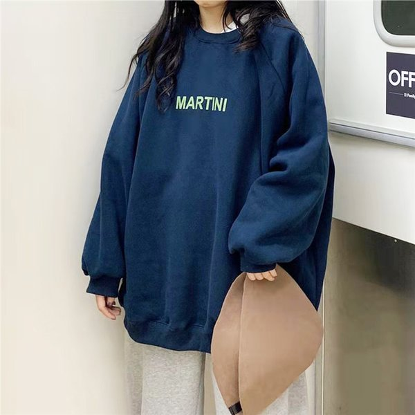 Hoodie womens loose letter simple Unisex couple oversized Sweatshirt round neck thickening soft autumn basic womens clothing Womens Clothing Dresses Skirts Womens Blouses & Shirts Womens Hoodies & Sweatshirts Womens Jeans Womens Jumpsuits & Rompers Womens Outerwear & Coats Womens Sweaters