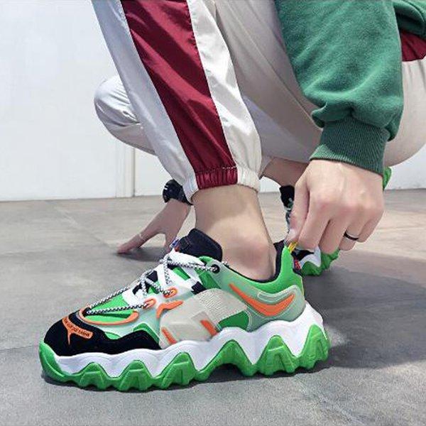 Casual Men's Shoes Mesh Men's Lace-up Breathable Comfortable Fashion Flat Sneakers Men's Non-slip Shoes Men