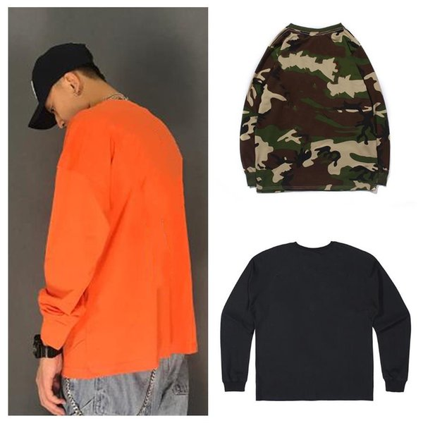 best selling Men's shirts Sweatshirts Spring autumn hip-hop Orange purple Big V printing Pullover Friends European size S-XL A variety of styles and colors Long sleeve