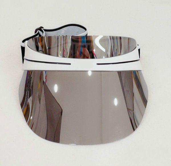 2021 Hot designer hat woman sun hat transparent PC dazzle color gradient sunglasses brand hat adjustable size 56-62cm