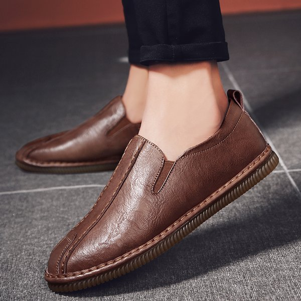 2021 Spring Summer Casual Shoes Breathable Men Loafers Shoes Slip-on Male Flat Shoes High Quality Business Loafers *