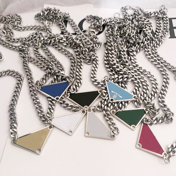 best selling 2021 luxurys Sale Pendant Necklaces Fashion for Man Woman 48cm Inverted triangle designers brand Jewelry mens womens Highly Quality 19 Model Optional