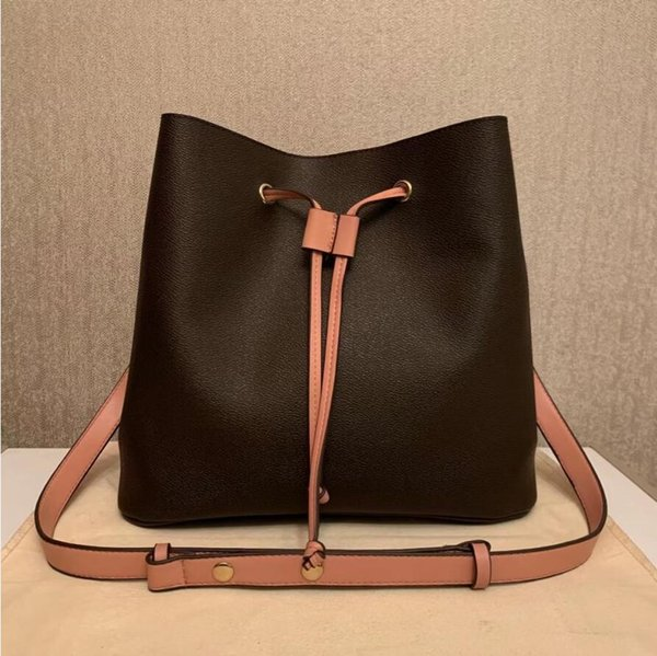 top popular luxurys designers NEONOE Bucket Handbags Fashion Women's Bags old flower Purses Women Tote Brand Letter Genuine Leather Shoulder crossbody bag M44022 M44887 2021