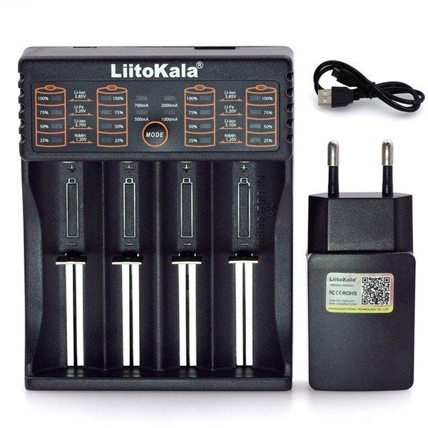 CCessories Parçaları Şarj Cihazları Tokala Lii402 Lii202 Lii100 Liis1 18650 Şarj 1.2 3.7 3.2 V AA / AAA 26650 Nimh Li-Ion Pil Akıllı Charg ...