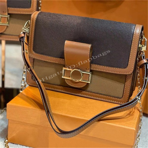 2021 Famous Luxury Fashion Designer DAUPHINE Hand Bags M44391 M44580 24K Hardware Modern Look Feel Letters Lock Shoulder Cross Body Handbag Classic Lady Bag