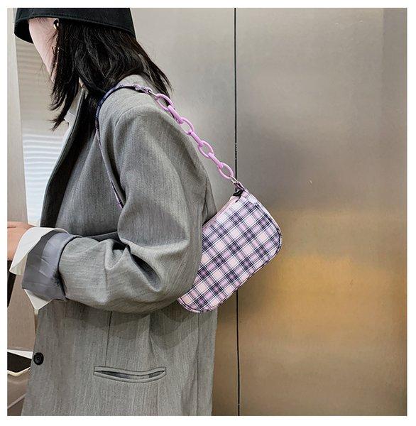 Fashionable Small Chain Shoulder Bags For Women Handbags Sac A Main Female Bag Canvas Baguette Bolsas