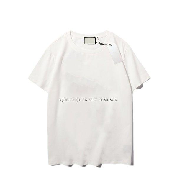 top popular Luxury printing pattern men's t shirt fashion personality men design shirts women's short high quality black and white 2021