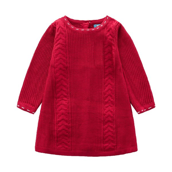 top popular Kids warm princess sweater dress Pullover design baby girls M* bear knitting Jumper Christmas Wool Blends Sweaters children 1-5Y boutique clothing clothes 2021