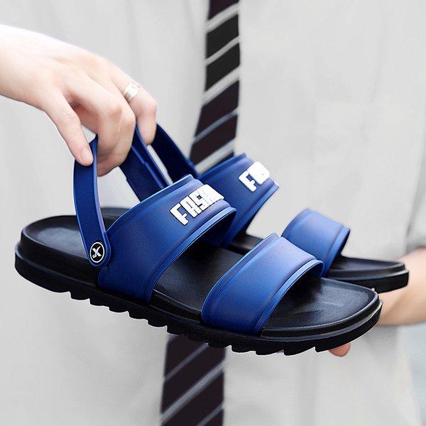 Men Slippers Flat Summer Men Shoes Breathable Beach Slippers Wedge Black White Flip Flops Men Brand Slides Slippers