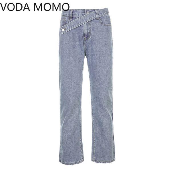 2011Streetwear Korean Style Jeans for Women Fashion High Waisted wide leg womens Denim Jeans Harajuku Cargo Pants jeans woman