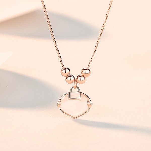 Rose Gold Ruyi Lock Necklace-925 Silver