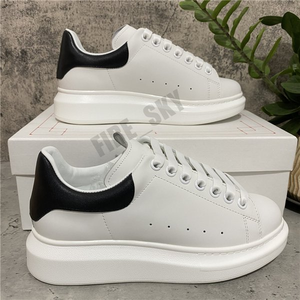 best selling Top Quality Mens Womens Leather Casual Shoes Lace Up Flat Comfort Pretty Trainers Daily Lifestyle With Box Size EUR 35-45