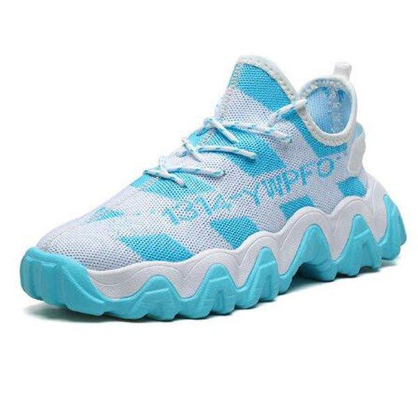 Men's shoes casual mesh lace-up breathable comfortable fashion flat sports shoes men's non-slip shoes men