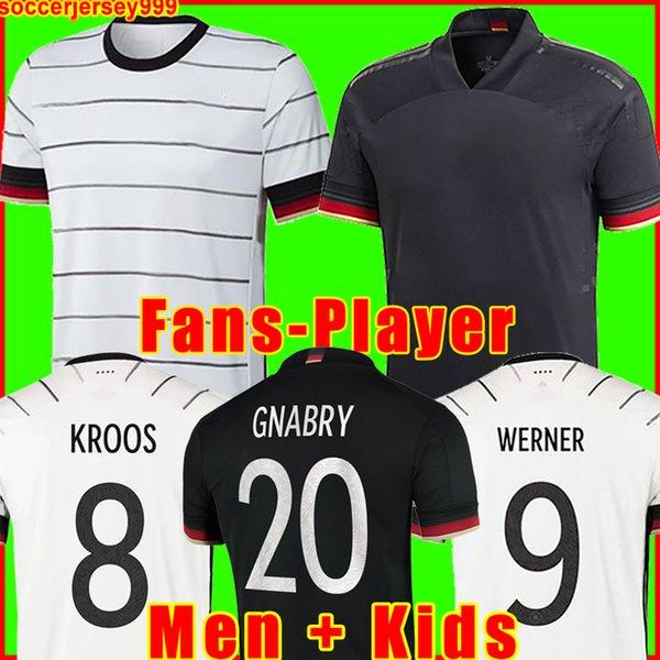 best selling Germany soccer jersey 2020 2021 Fans Player version HUMMELS KROOS GNABRY WERNER DRAXLER REUS MULLER GOTZE European Cup football shirt uniforms men + kids kit 999