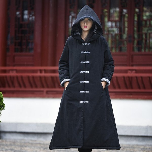 Meditation Clothing Ancient Chinese Costume Traditional Chinese Clothing Cotton And Linen Robe With Hood Meditation Robe 11631 Apparel Ethnic Clothing DIY Clothing Mens Clothing Womens Clothing