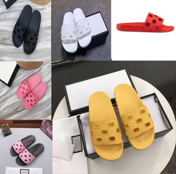 T139 Latest quality leather slippers men and women sandals high heels brand sneakers fashion casual