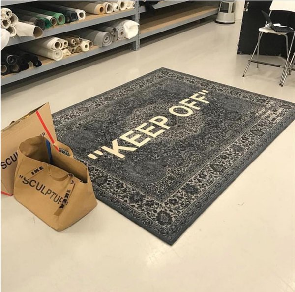 top popular FAST Delivery Upgrade luxury brand Jacquard ow ofokf white IK joint limited edition Knitted European carpet living room floor mat 2021