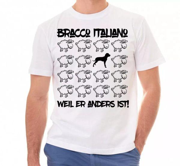Bracco Italiano Unisex T-Shirt Black Sheep Men Dog Dogs Motif VORSTEHHUND