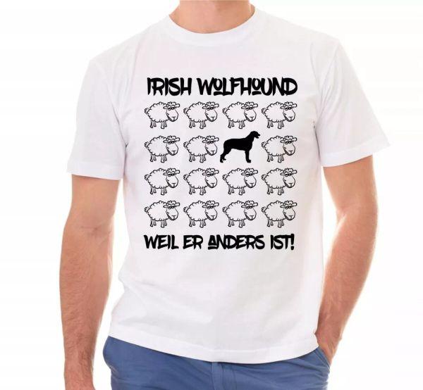 Irish Wolf Dog Unisex T-Shirt Black Sheep Men Dog Dogs Motif Wolf Dog