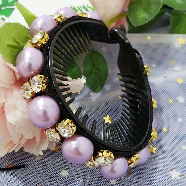 Violet - perle comme des cheveux rayés