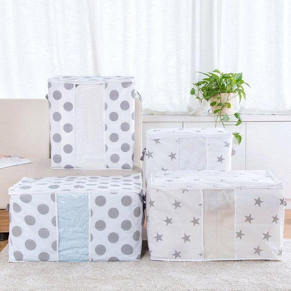 Bamboo Folding Charcoal Clothes Sweater Blanket Closet Organizer Storage Charcoal Bamboo Organizer Foldable Zipper Bag Box
