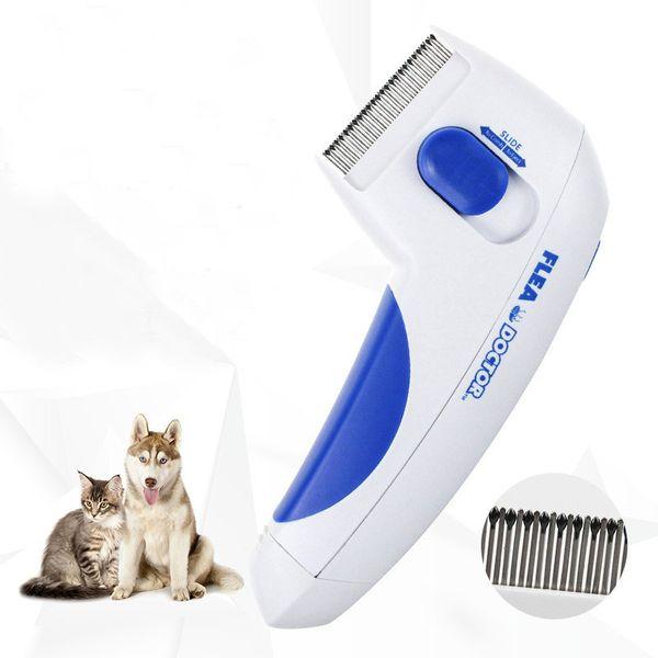 Pet Electric Flea Comb Cat Dog Comb Fleas Tick Grooming Removal Tools Cats Automatic Kill Lice Electric Head Brush Pets Products